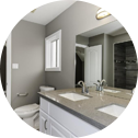 White Bathroom , new bathroom cabinets, Stainless Steel Faucets from a great bathroom design