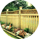 Fence made with fence panels after fencing renovation for privacy